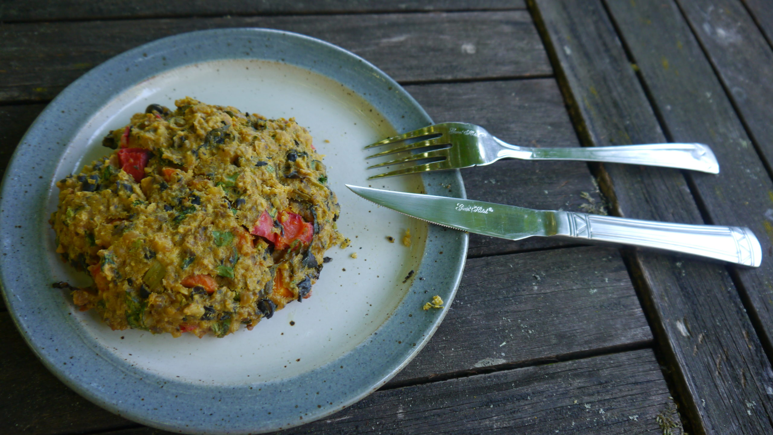 galettes végétariennes aux légumes et légumineuses
